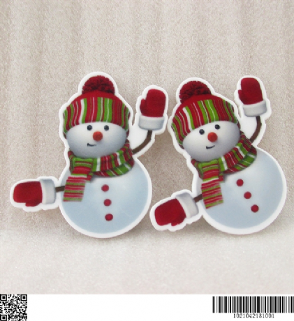 5 X 48MM LOVELY SNOWMAN CHRISTMAS XMAS LASER CUT FLAT BACK RESIN HEADBANDS BOWS